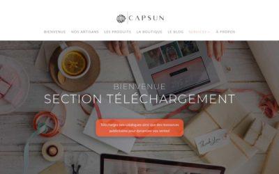 Nouvelle section Téléchargements chez Capsun Distribution!