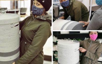 Présentation du panier en coton naturel réalisé par Vérona, employée chez Mia Mélange à Stellenbosch! 🥰